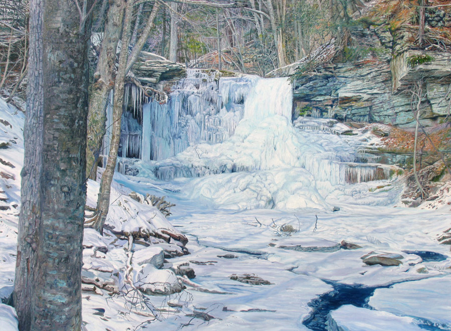 frozen waterfall Rickett's Glen!
